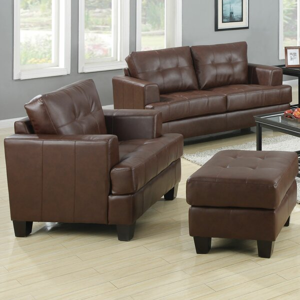 Arine Leather Living Room Set by Red Barrel Studio