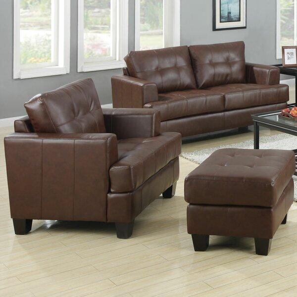 Best #1 Arine Leather Living Room Set By Red Barrel Studio Savings