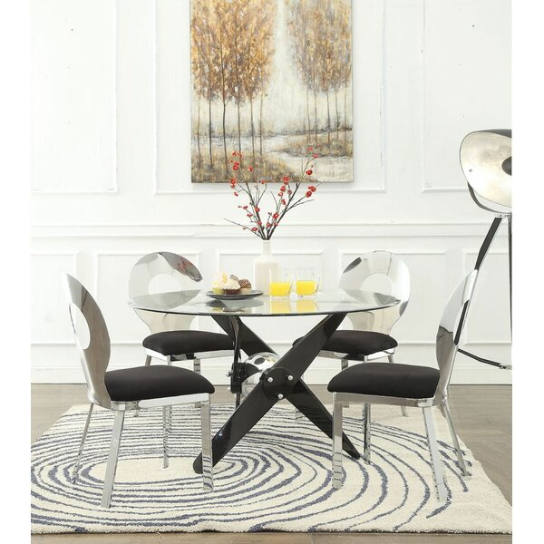 Wabbaseka 5 Pieces Dining Set by Orren Ellis