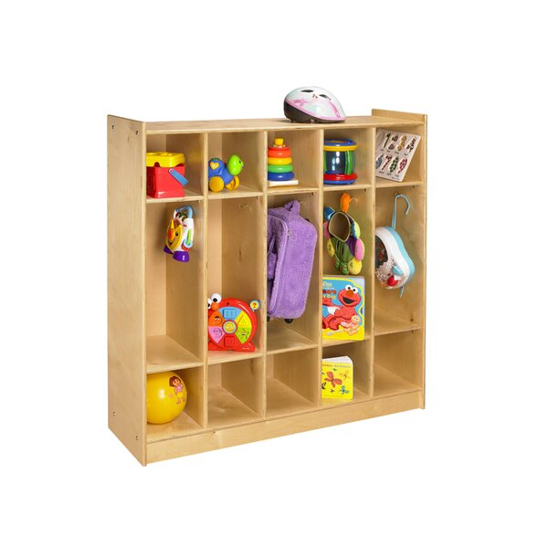 Cubbie 3 Tier 5 Wide Coat Lockers by A&E Wood Designs