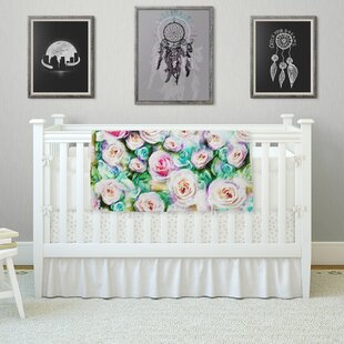 Budget 'Sweet Rose Flowers' By Dawid Roc Fleece Baby Blanket By East Urban Home