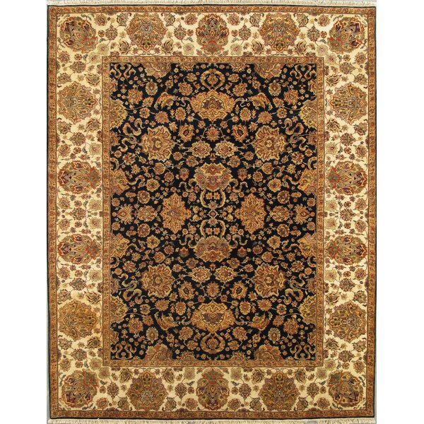 Agra Hand-Knotted Wool Navy Area Rug by Pasargad
