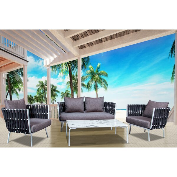 Hopp Rope 4 Piece Sofa Seating Group with Cushions by Brayden Studio