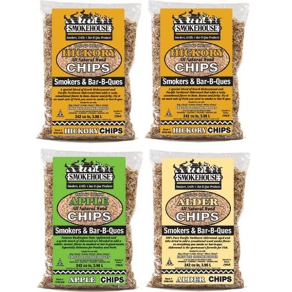 Wood Chips 4 Pack Assortment by Smokehouse Products