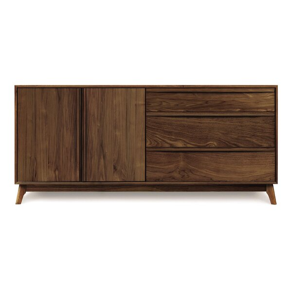 Catalina 3 Drawer on Right Sideboard by Copeland Furniture