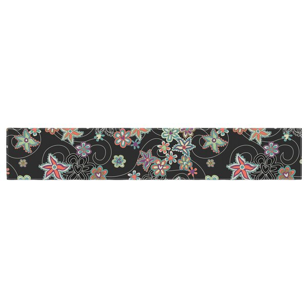 Julia Grifol My Flowers Floral Table Runner by East Urban Home