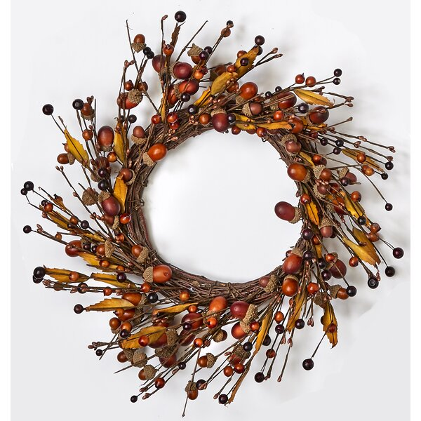Acorn/Leaf 14 Wreath by Charlton Home