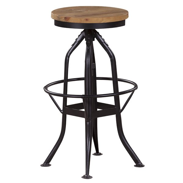 Harbin Adjustable Height Bar Stool by 17 Stories 17 Stories