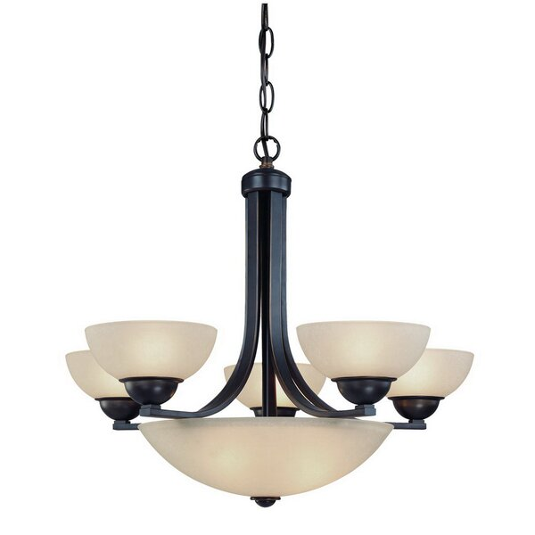 Peluso 8-Light Shaded Empire Chandelier by Charlton Home Charlton Home