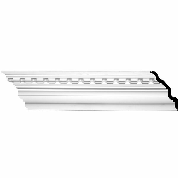 Dentil 7 7/8 H x  94 1/2 W x 6 3/8 D Crown Molding by Ekena Millwork