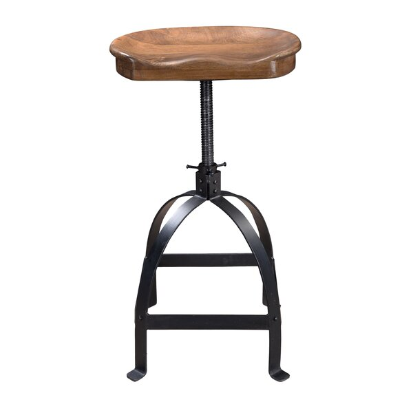 Lynde Adjustable Height Swivel Bar Stool by Trent Austin Design
