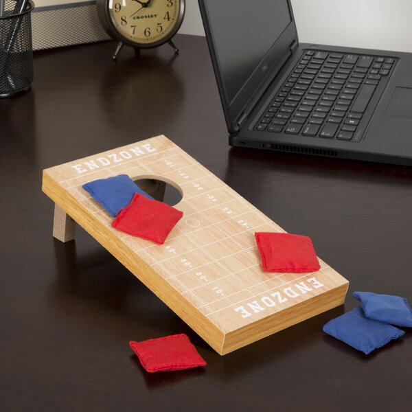 7 Piece Tabletop Football Cornhole Game by Trademark Games