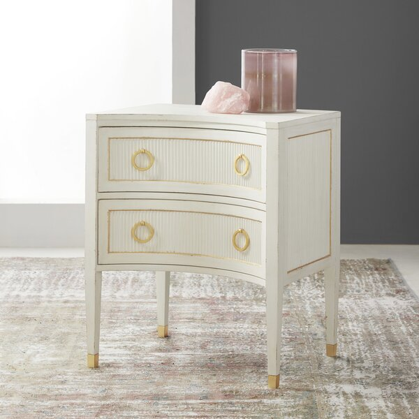 Swedish Reeded 2 Drawer Nightstand by Modern History Home Modern History Home
