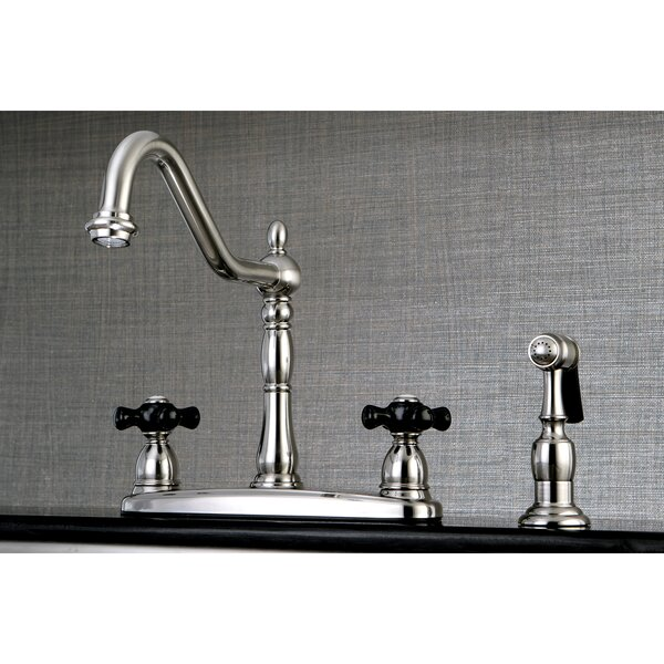 Duchess Double Handle Kitchen Faucet with Side Spray by Kingston Brass