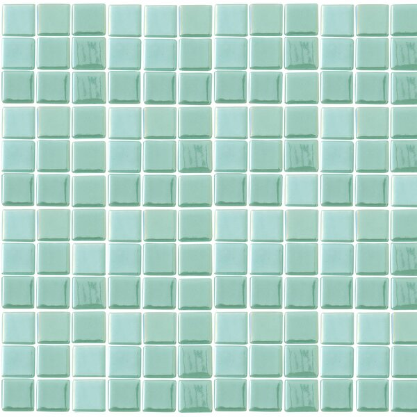 Futurez Hendrix 1 x 1 Glass Mosaic Tile in Green by Epoch Architectural Surfaces