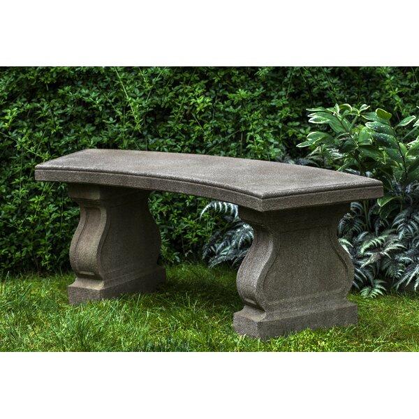 Zimelman Cast Stone Garden Bench by Astoria Grand Astoria Grand