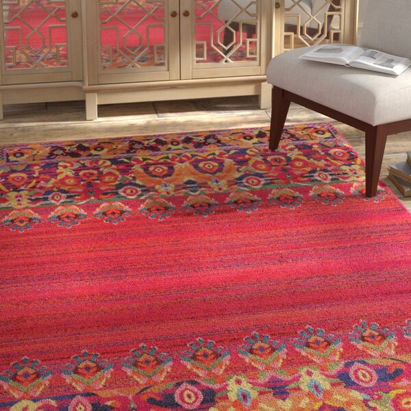 Holsinger Red Area Rug by Bungalow Rose