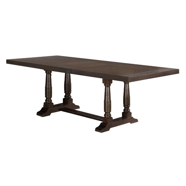 Fortunat Extendable Dining Table Laurel Foundry Modern Farmhouse LRFY7386