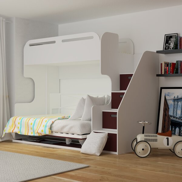 Shreya Twin Over Full Bunk Bed with Drawers by Isabelle & Max