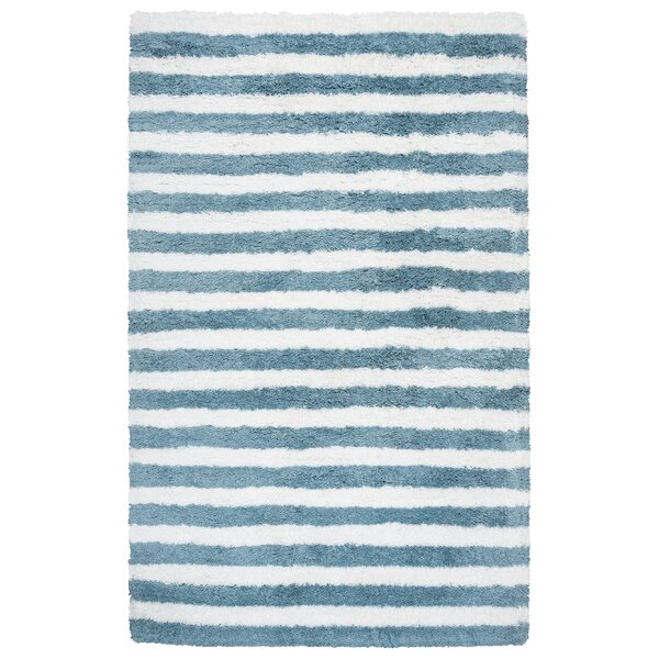 Laoise Hand-Tufted Aqua Area Rug by Breakwater Bay