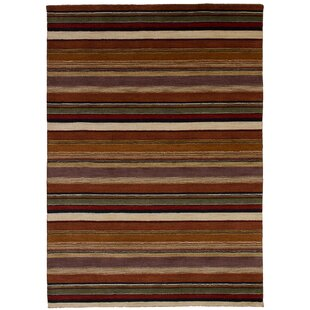 Comparison One-of-a-Kind Groom Hand-Knotted Wool Copper/Tan Area Rug By Isabelline