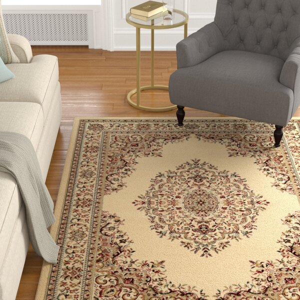 Arradale Medallion Ivory Area Rug by Astoria Grand