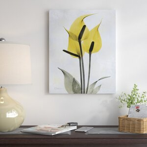 'Golden Flower I' Graphic Art on Wrapped Canvas by Winston Porter