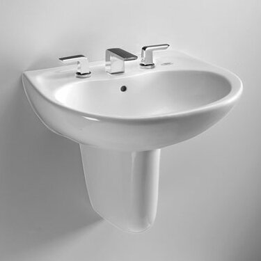 Prominence Vitreous China 26 Wall Mount Bathroom Sink with Overflow by Toto