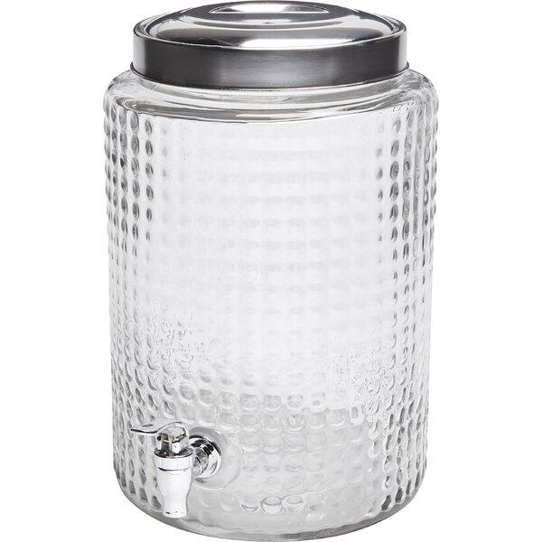 Windowpane Round 2.7 Gal Beverage Dispenser by Circle Glass