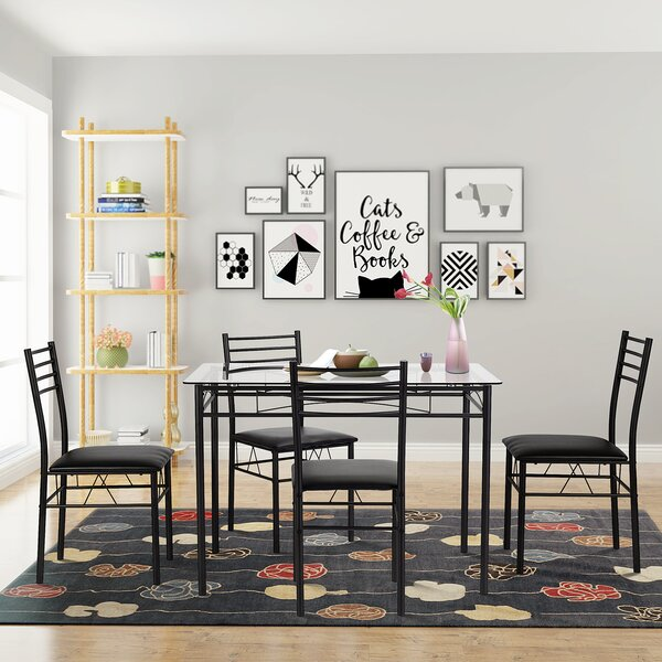 Best Choices Taulbee 5 Piece Dining Set By Winston Porter No Copoun