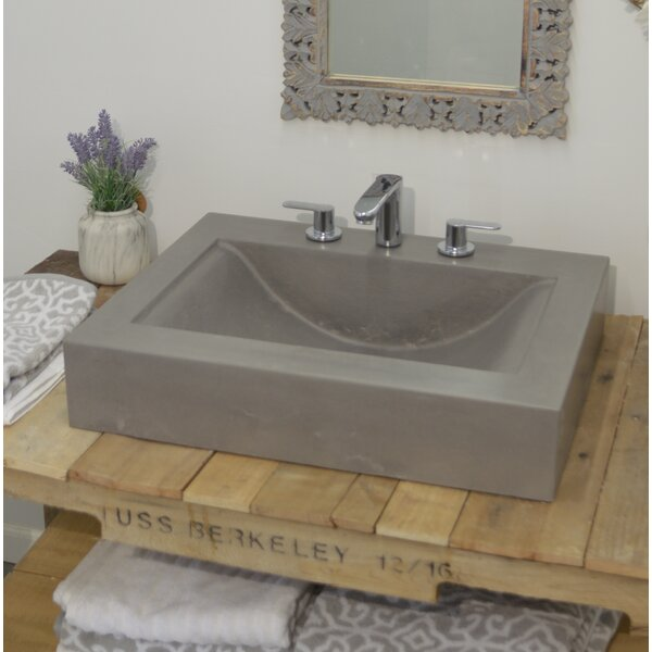 Bay Wave Rectangular Vessel Bathroom Sink by Hyde Products