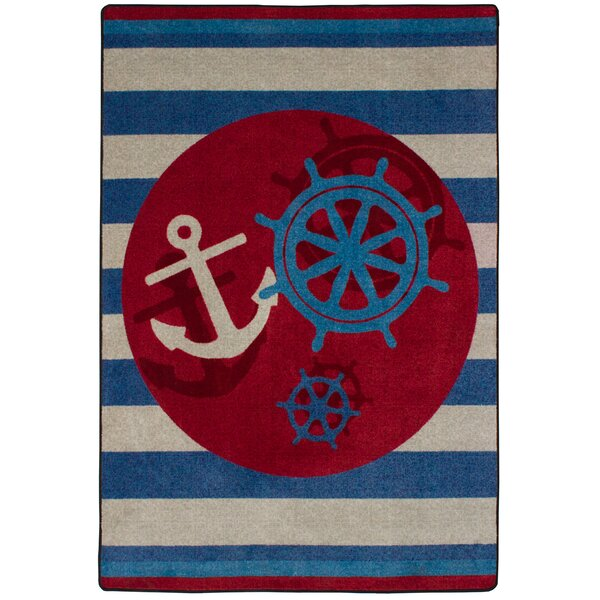 Coastal Ahoy There Nautical Area Rug by American Dakota