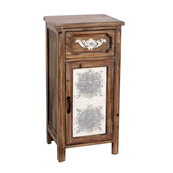 Ornate Wooden Decor Drawer Accent Cabinet by Jeco Inc.