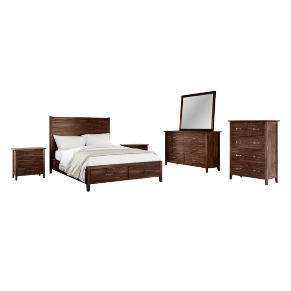 Sartell Platform Solid Wood 6 Piece Bedroom Set by Breakwater Bay