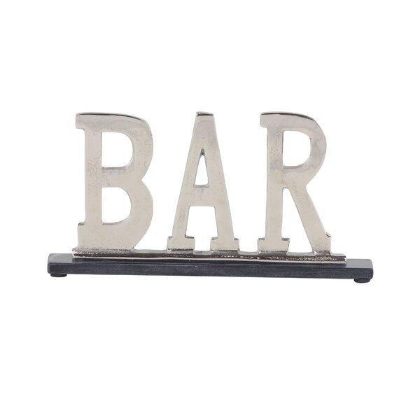 Gasaway Modern Metal Kitchen Sign Letter blocks by Gracie Oaks