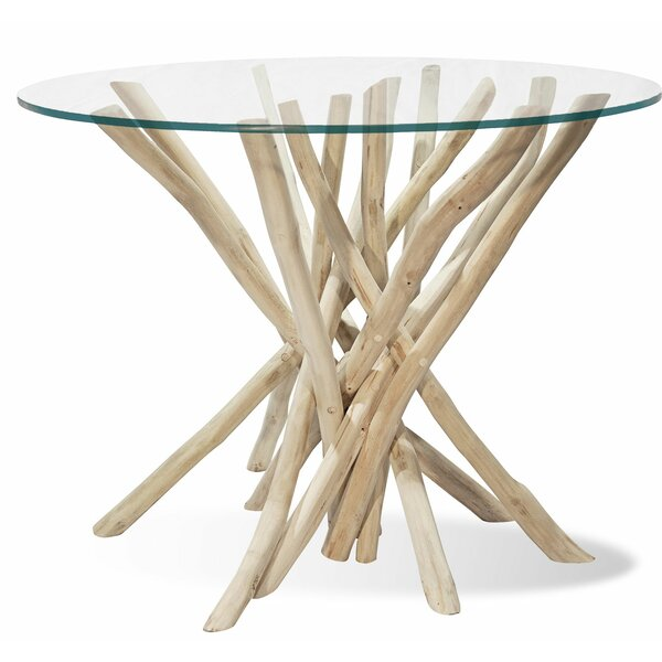 Round Branch Wood End Table by Ibolili
