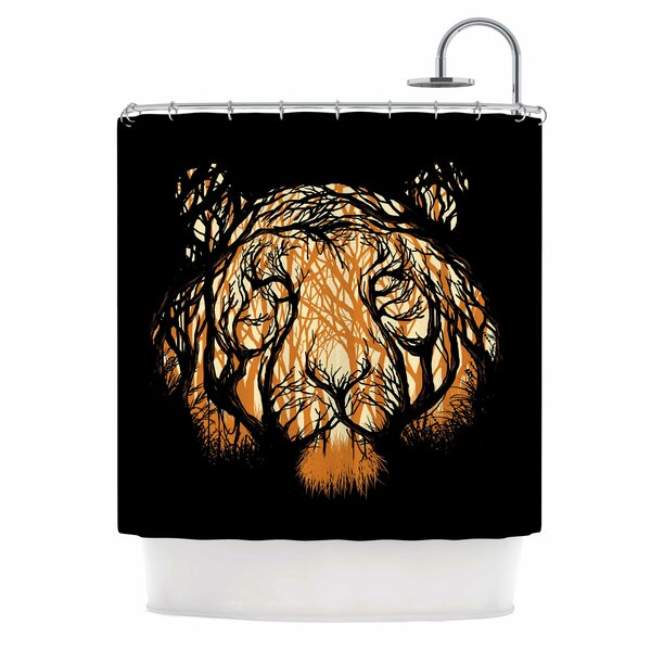 Digital Carbine Hidden Hunter Illustration Shower Curtain by East Urban Home