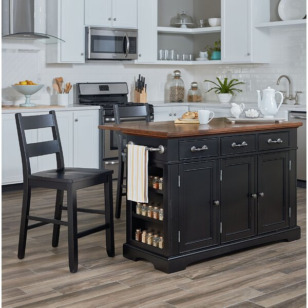 Hewish Kitchen Island Set by August Grove