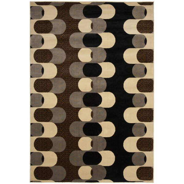 Maire Black/Blue Gray Area Rug by Ebern Designs