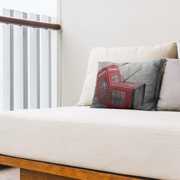 Death of a Telephone Box Cutoff Indoor / Outdoor 14 Lumbar Pillow