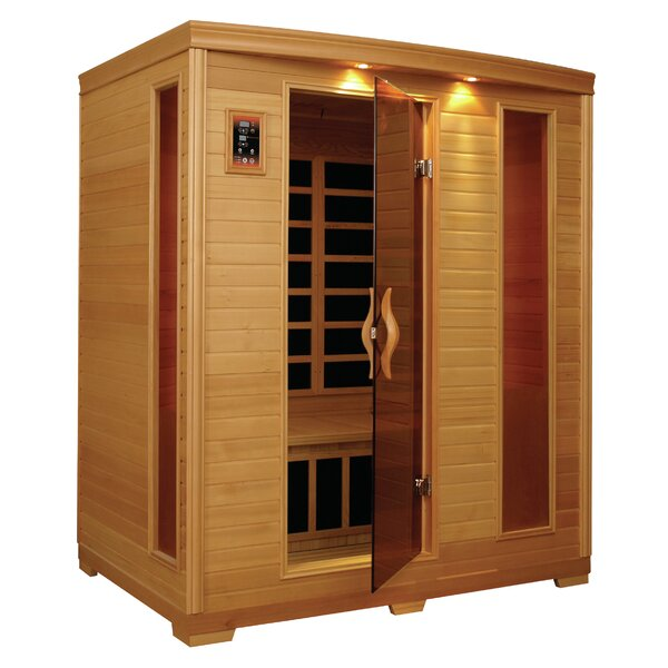 Carbon 3 Person FAR Infrared Sauna by QCA Spas