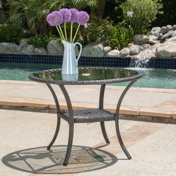 Darden Wicker Bistro Table by Darby Home Co