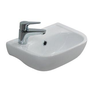 Savings Caroline 380 Vitreous China 15 Wall Mount Bathroom Sink with Overflow By Barclay