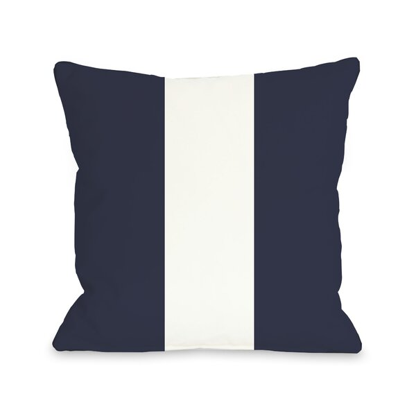 Main Line Throw Pillow by One Bella Casa