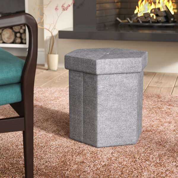 Stasia Collapsible Storage Ottoman by Winston Porter