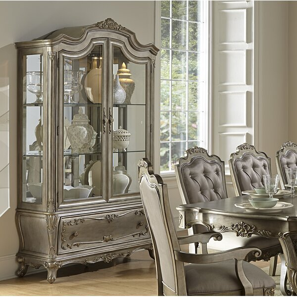 Shook Lighted China Cabinet by Astoria Grand
