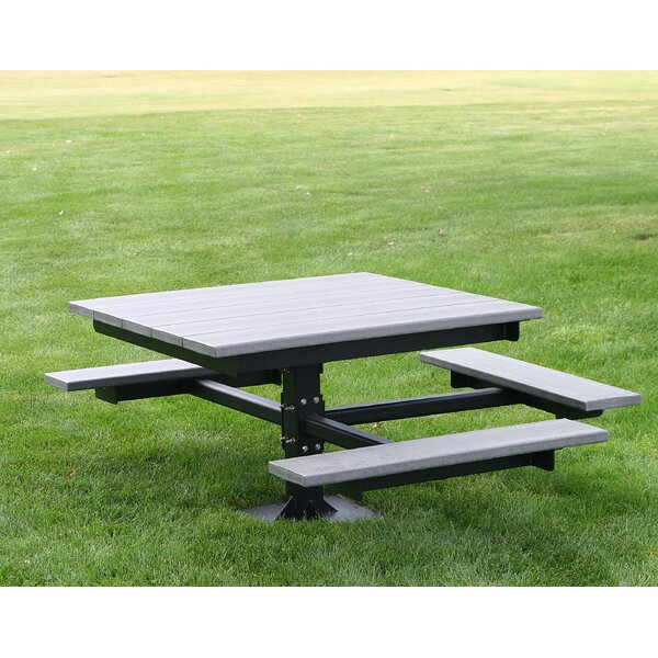 Enjoyable Recycled Plastic Picnic Tables Wayfair Evergreenethics Interior Chair Design Evergreenethicsorg