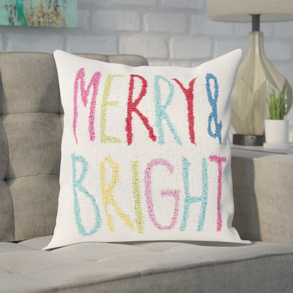 Donati Merry & Bright Winter Throw Pillow by Ivy Bronx