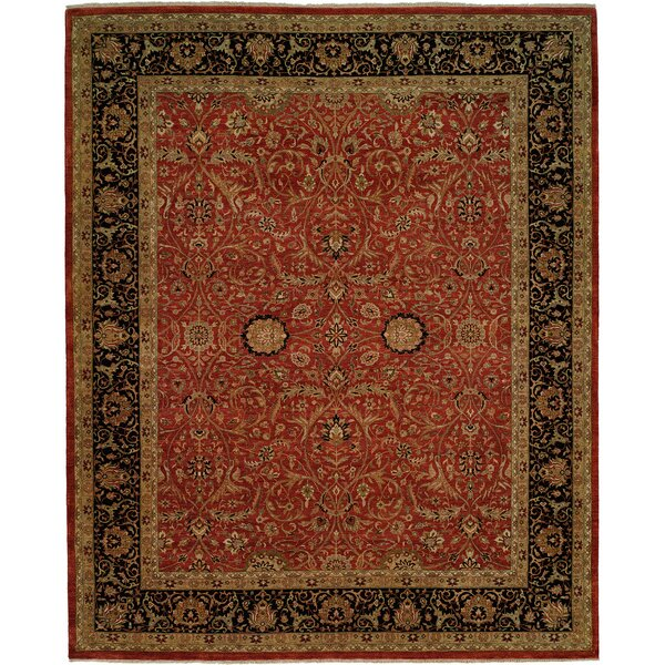 Diphu Hand-Knotted Rust/Black Area Rug by Meridian Rugmakers