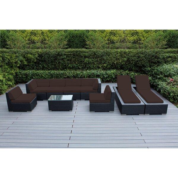 Barna 9 Piece Sunbrella Sectional Set With Cushions By Orren Ellis